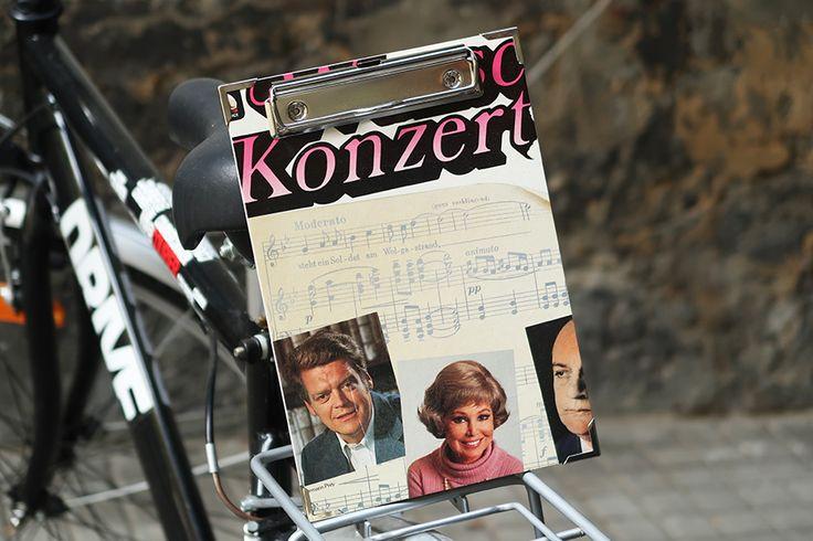 Plattencover-Klemmbrett A4