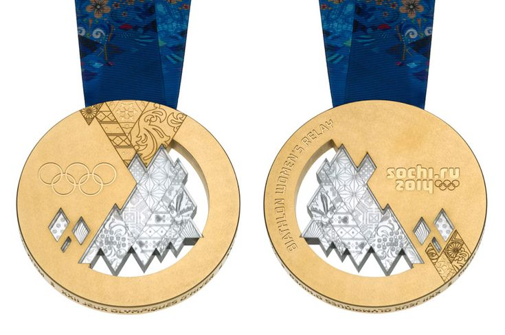 2014+Winter+Olympics | ... left) and back (right) of the sochi 2014 winter olympic medal design