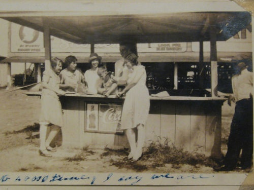 Paris Texas 1920's Coca Cola Coke Outside Stand Photo