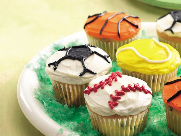 Sports Cupcakes. Betty Crocker: Sports Cupcakes, Recipe, Game Cupcakes, Birthday Parties, Party Ideas, Birthday Party, Kid