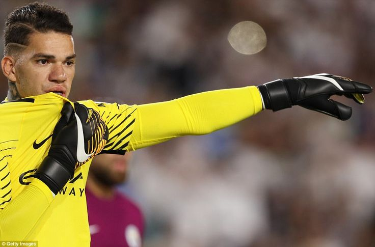 City's summer signing Ederson Moraes impressed during the first-half at the famous LA Coli...