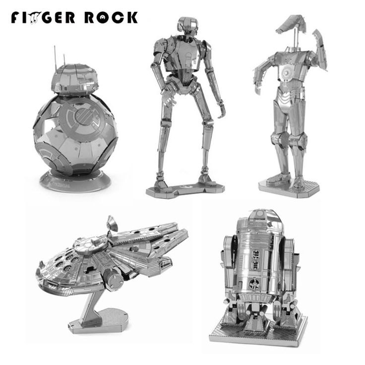 Finger Rock 3D Metal Puzzles Assemble DIY R2D2 Tie Xwing Fighter Millennium Falcon BB 8 Battle Droid Model Toys New Year Gift-in Puzzles from Toys & Hobbies on Aliexpress.com | Alibaba Group