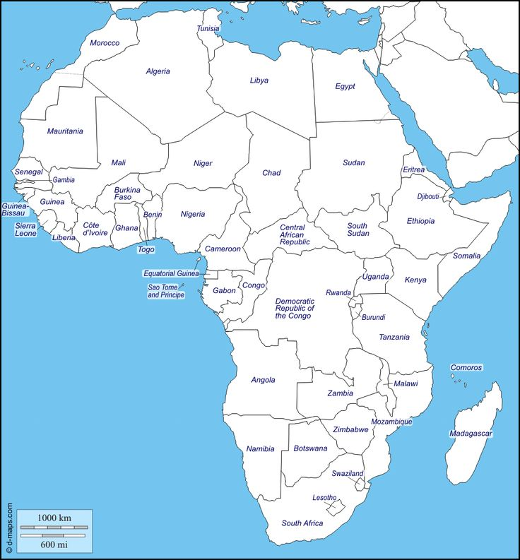 africa free map free blank map free outline map free base map states names