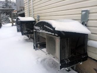 MINI - SPLIT HEAT PUMP COVERS. Serves to prevent snow drifting by cutting down on wind blow through! Avoid costly breakdowns and service calls.    Learn more here: http://www.cover-tech.com/heat-pump-covers  #TipTuesday #TransformationTuesday #minisplit #heatpumps #heatpumpcovers #easyinstall #builttolast #airconditioning #heater #covers