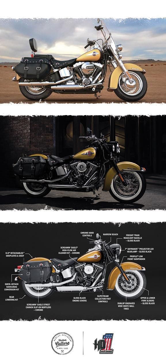 Classic cruiser built to go the distance. | 2017 Harley-Davidson Heritage Softail Classic