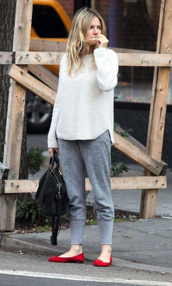 Sienna Miller | Sunday Casual In Sweatpants