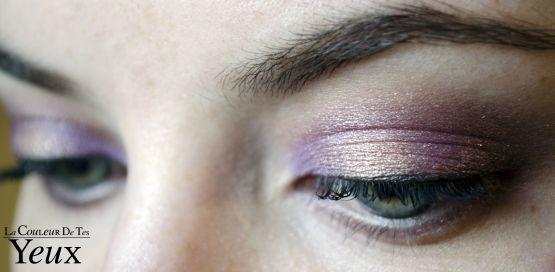 Maquillage violet et or