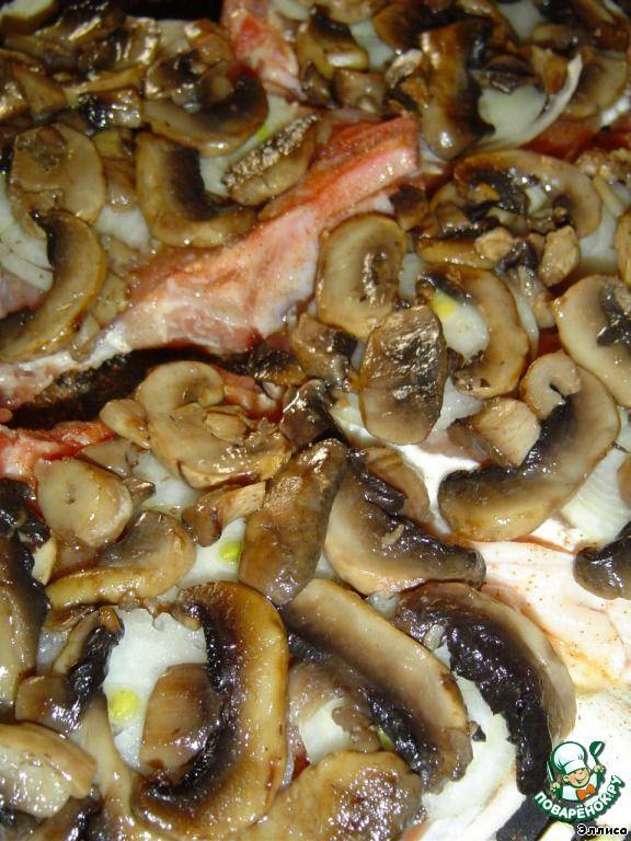 Свиные отбивные, запеченные с грибами ингредиенты