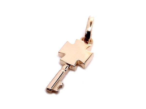 AMBRACE K18 pink gold cross key pendant ピンクゴールド ペンダント チャーム ネックレス クロス カギ