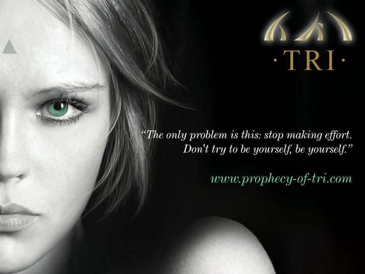 The only problem is this: stop making effort. Don't try to be yourself, be yourself. http://myBook.to/TRI