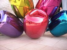 """large balloons sculpture """"Tulips by Jeff Koons in Bilbao"""