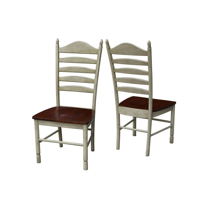 International Concepts High-Back Dining Chair 2-piece Set, Brown