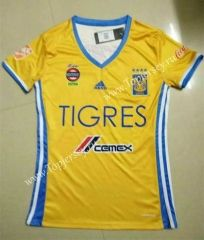 2016-17 Tigres UANL Home Yellow Female Thailand Soccer Jersey