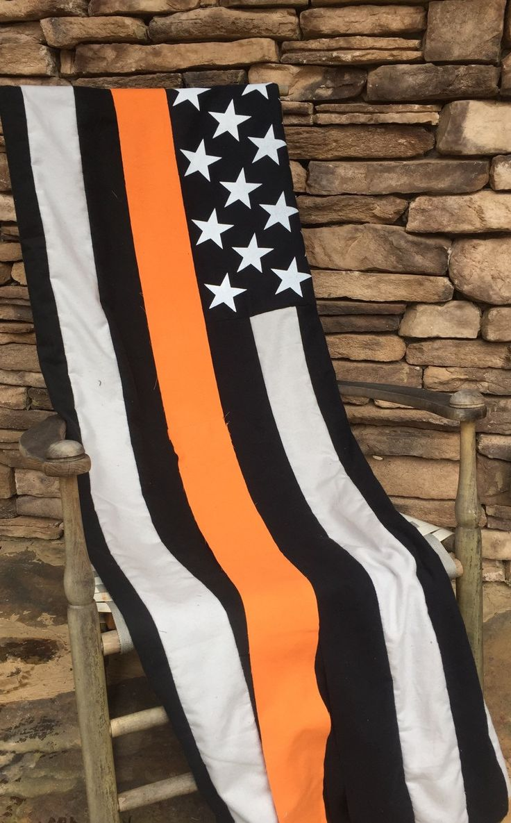 Thin Orange Line - Search and Rescue - EMS - Throw/Blanket - by ZabesQuilts on Etsy https://www.etsy.com/listing/269478393/thin-orange-line-search-and-rescue-ems