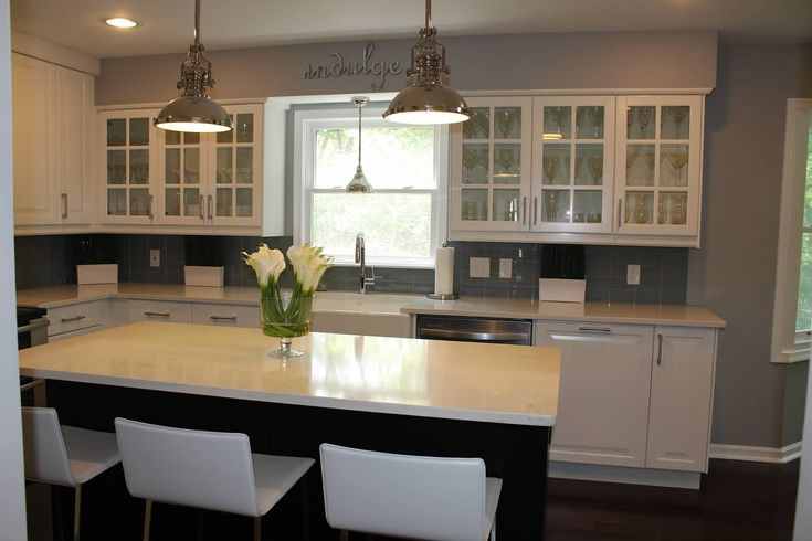 ikea kitchen remodel. Love how bright the white cabinets look.....