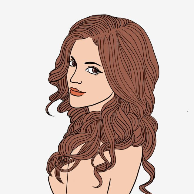 Beautiful Woman With Wavy Hair On One Hand Hair Beauty Png Transparent Clipart Image And Psd File For Free Download In 2020 Hair Png Curly Hair Women Wavy Hair