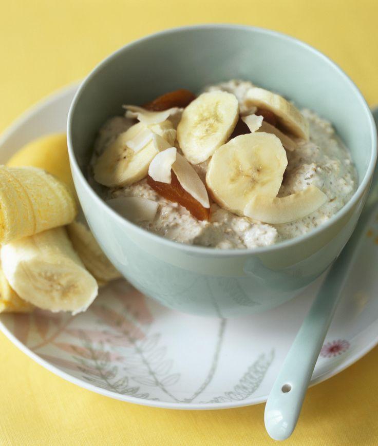havregrøt over natten frokost banan sunn havregrøt