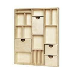 Panduro Hobby - Aufbewahrungsregal 50x40 Holz