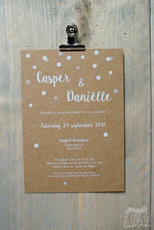 Kraft trouwkaart - Casper & Daniëlle