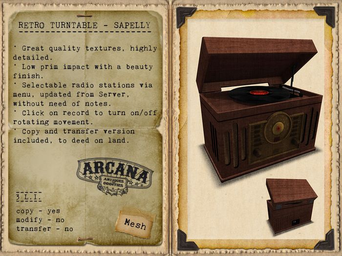 {A} Retro Turntable - Sapelly
