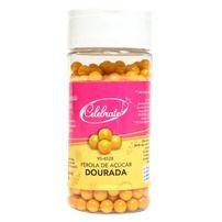 Confeito Pérola Dourada de Açúcar 7mm - Celebrate