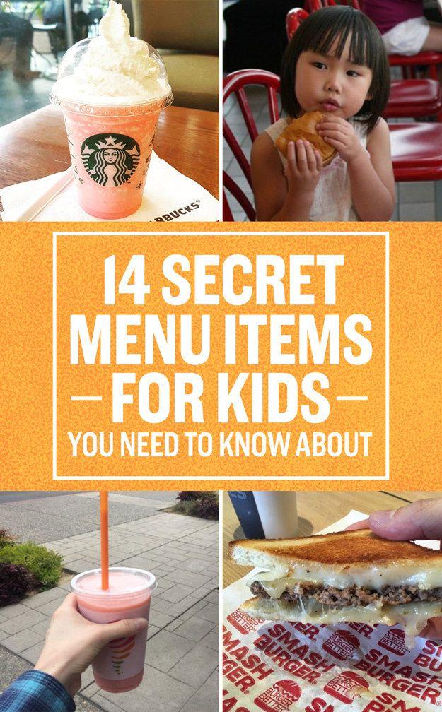 Yep, there are secret kids menus too.