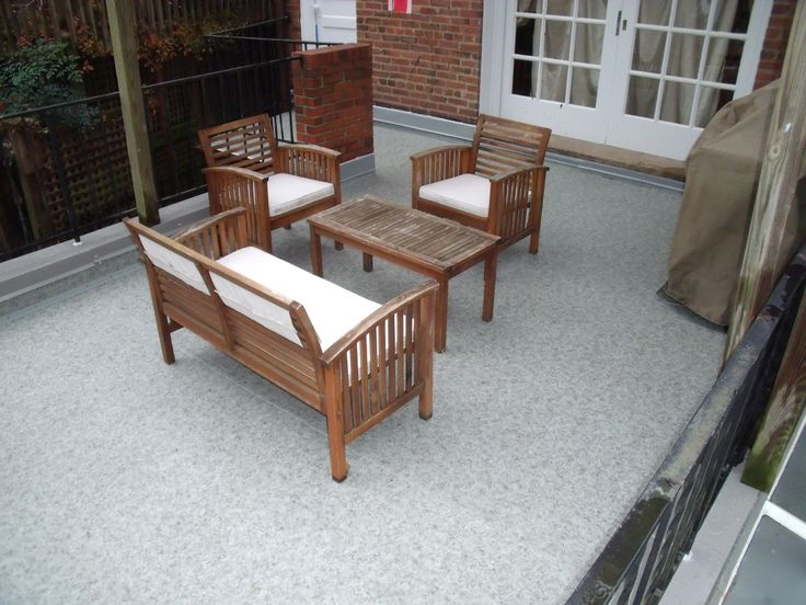 Relaxing Outdoor Space Near Foundry Branch Valley Park In Dc Provided By Duradek Vinyl Membrane
