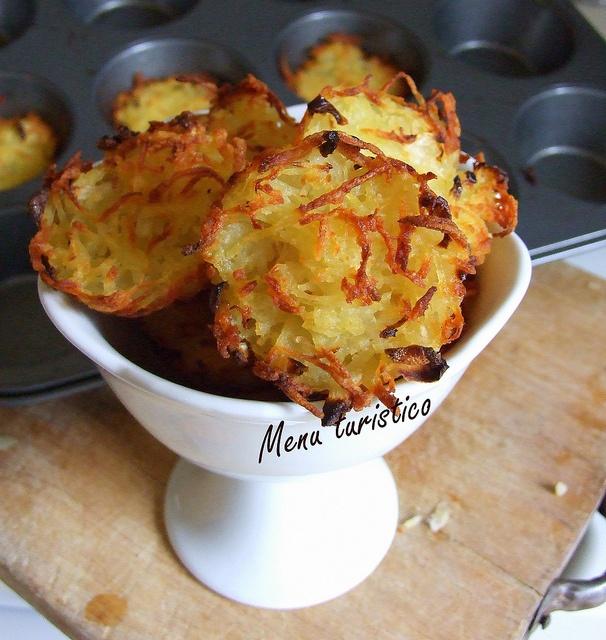 Rosti di patate e cipolle al forno