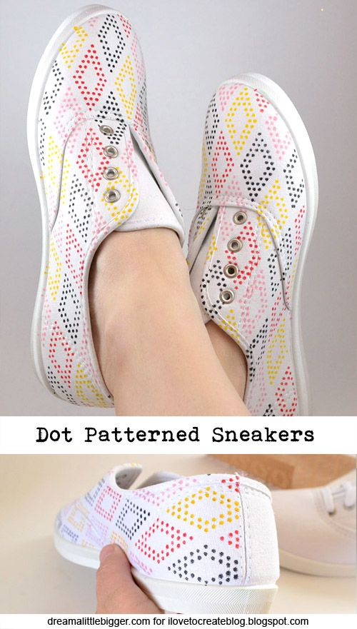 Use stencils to create your own perfect DIY patterned shoes with unique designs and impressive detail!