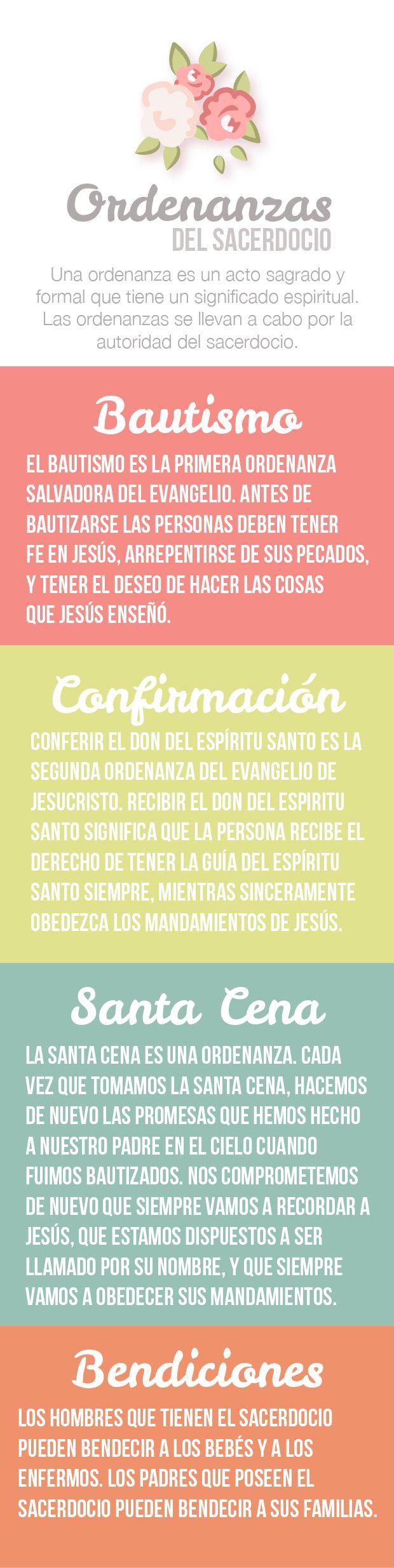 Ideas y ayudas visuales para enseñar sobre las ordenanzas en Ven, Sígueme. Las ordenanzas nos ayudan a recordar quiénes somos y nos recuerdan nuestra relación con Dios. Nos ayudan a venir a Cristo y a recibir la vida eterna.