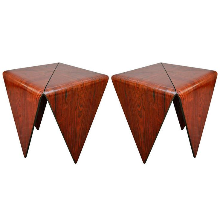 Pair of Jorge Zalszupin Side Tables, 1960s--From a unique collection of antique and modern side tables at http://www.1stdibs.com/furniture/tables/side-tables/