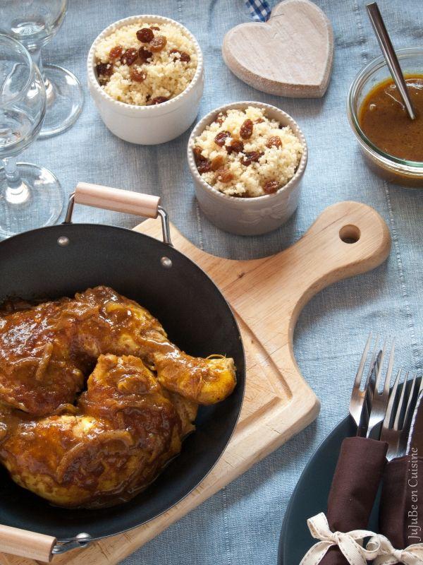 Poulet au miel, ras el hanout, moutarde et huile de sésame (une tuerie !)