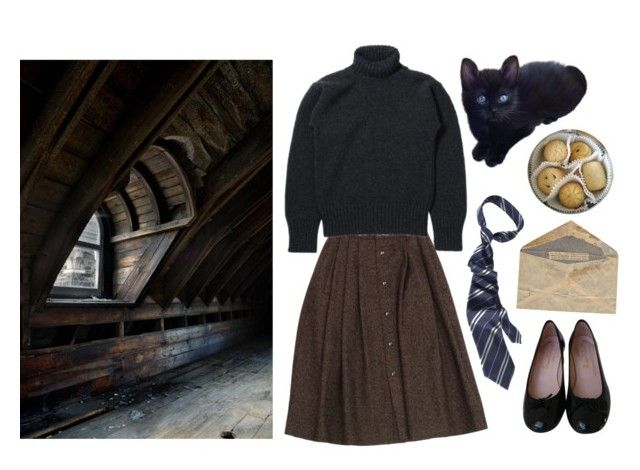 """""""Just got my letter"""" by mozart-and-coffee ❤ liked on Polyvore featuring Guy Laroche, Pretty Ballerinas and vintage"""