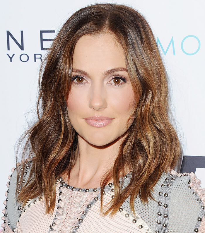 Minka Kelly dons a medium rose nude lip with pink undertones