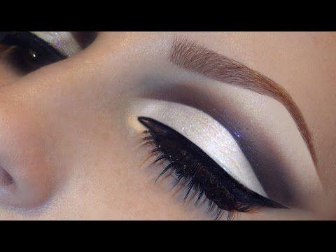 Trucco occhi con eyeliner e glitter argento - VideoTrucco