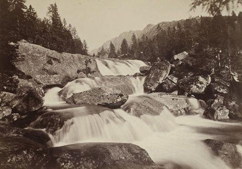 Stredný vodopád Veľkého Studeného potoka, 1887