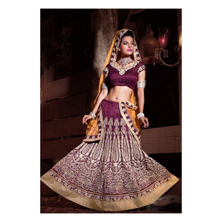 Viva N Diva Magenta Color Bhagapuri #Lehanga #onlineshopping http://goo.gl/3y18AT