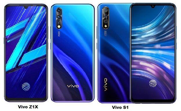 Vivo Z1x Vs Vivo S1 Specs Comparison Camera Sensor Size Digital Zoom Vivo