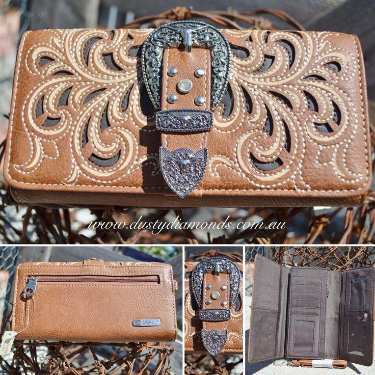 Montana West Wallet with Coloured Inlay Www.dustydiamonds.com.au