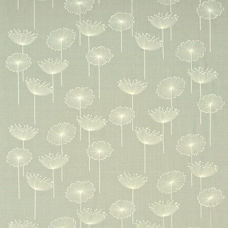 Sanderson Dandelion Embroidery (curtain fabric).  Textiles