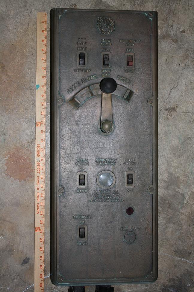 Antique elevator control switch | Vintage Elevators