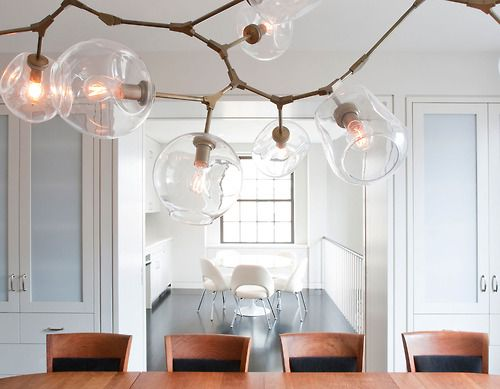 In celebration of DPAGES' first annual HOLIDAY TABLE CHALLENGE… D has christened October Fine Dining Month. Shown - Dining room featuring a Lindsey Adelman chandelier.