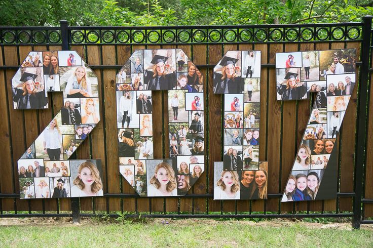 Picture perfect graduation party decorations to celebrate your graduate in the best way! Love how they incorporated photos into the graduation party food, graduation party games, and more!