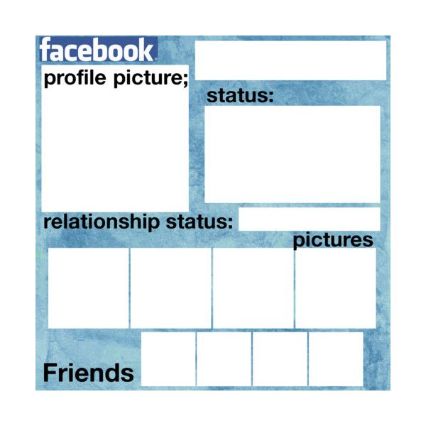 Facebook layout for roleplay(: ❤ liked on Polyvore featuring templates, backgrounds, random, surveys, other and fillers