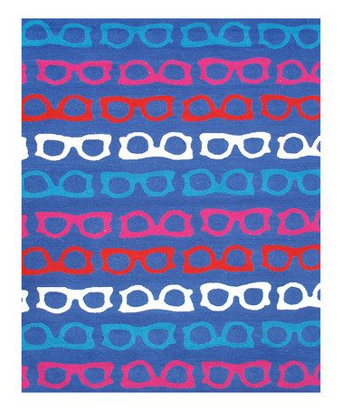 Take a look at this Blue & Red Hepburn Indoor/Outdoor Rug by The Rug Market on #zulily today!
