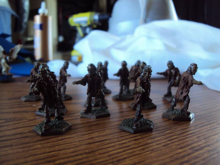 Zombies!  Zombies that I painted.