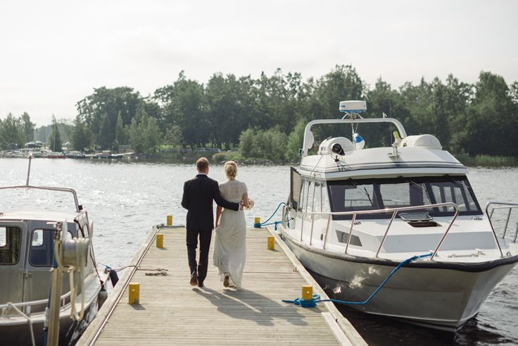 Boat ride to the reception. Julia Lillqvist   Jenny and Axel   Vasa Bröllopsfotograf   http://julialillqvist.com