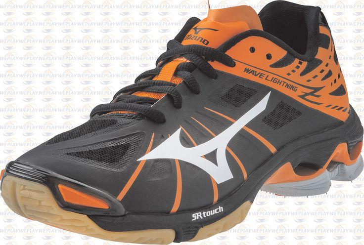 Mizuno Wave Lightning Z Womens Volleyball Shoes - Black / Orange