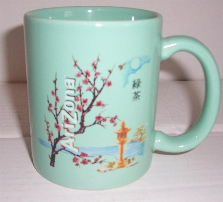 "AriZona Iced Tea ""Arizona Green Tea Refresh Mind & Body"" Jade Green Coffee Mug"