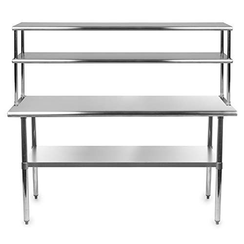 Stainless Steel Work Prep Table 14 X 60 With Adjustable D Https Www Amaz Stainless Steel Kitchen Design Stainless Steel Work Table Stainless Steel Kitchen